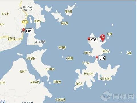从 温州,台州 出发:走甬台温高速到宁海出口下,经象山到石浦.