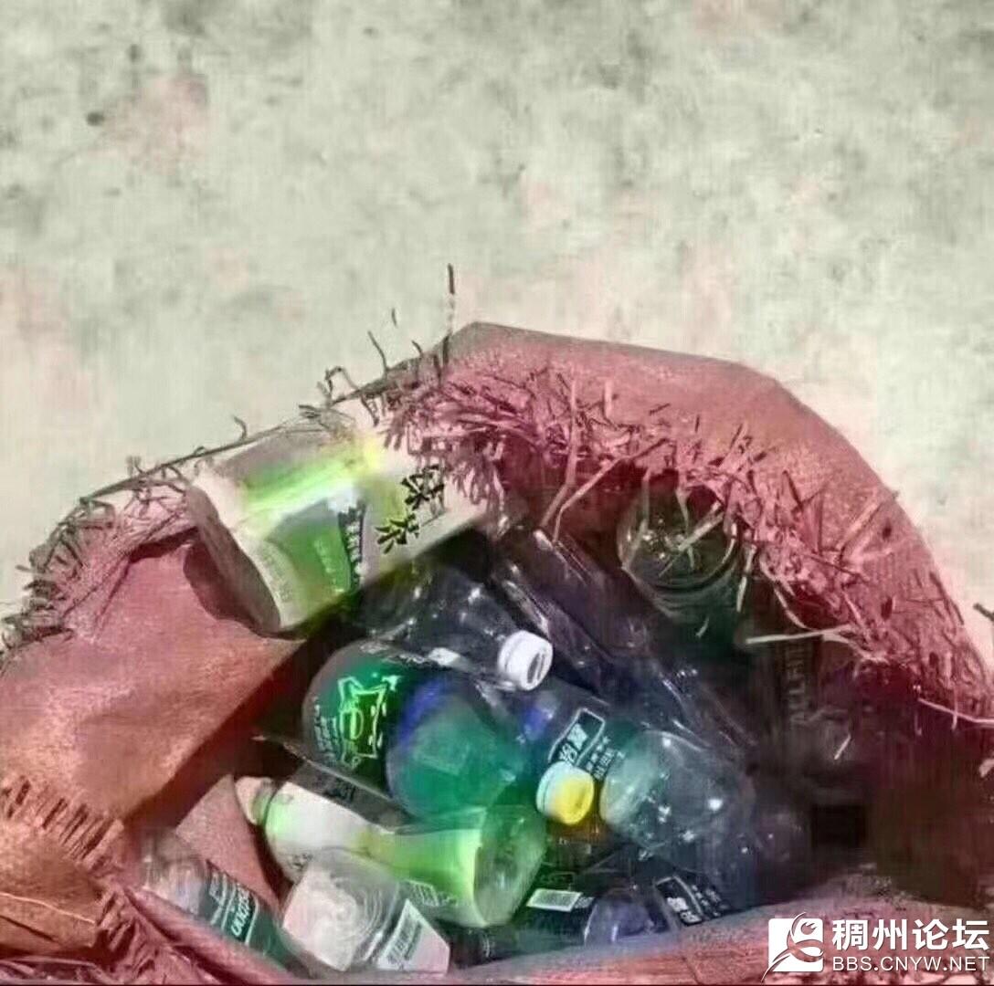 翻垃圾桶捡到的矿泉水瓶子终于不用跑垃圾回收站了