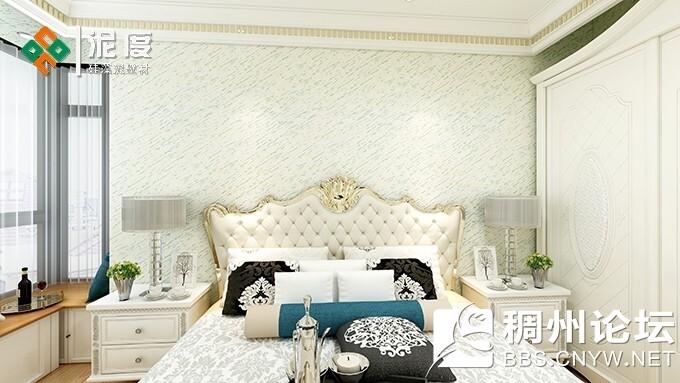 硅藻泥卧室背景墙