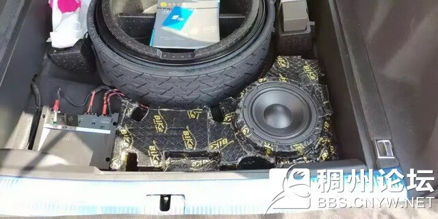 8,美国霸克10周年纪念版十寸低音安装在尾箱侧壁.jpg